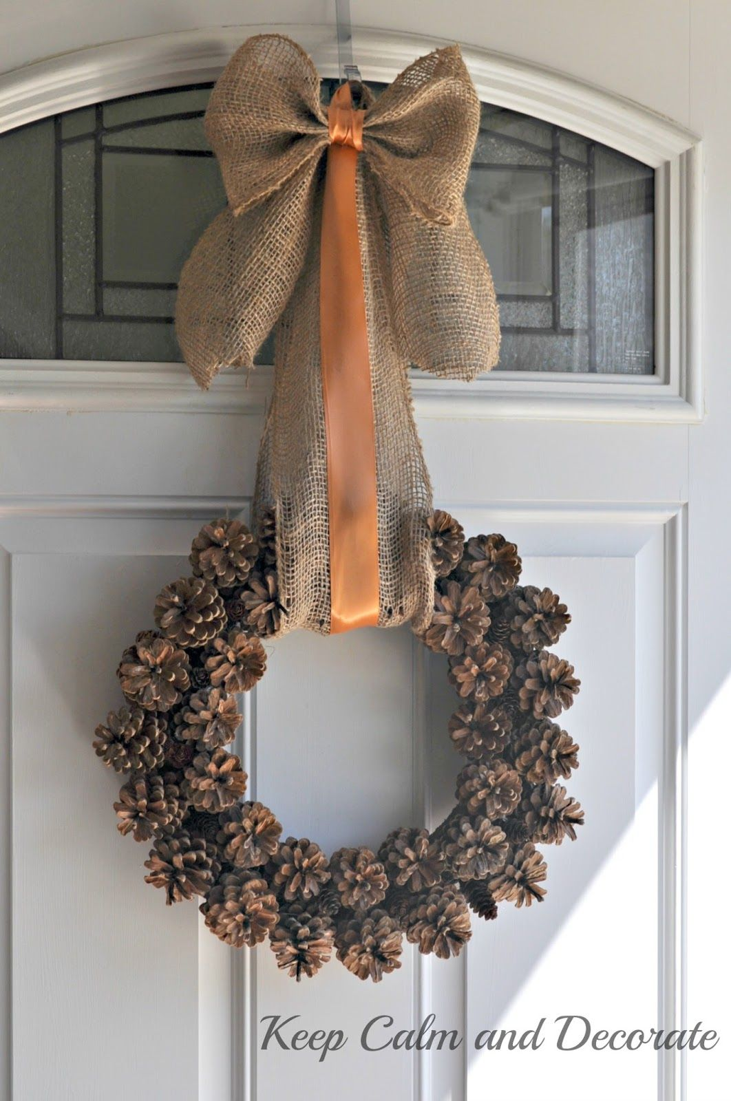 Pinecone and acorn wreaths