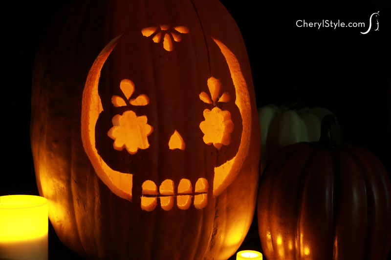 Printable stencil pumpkin design