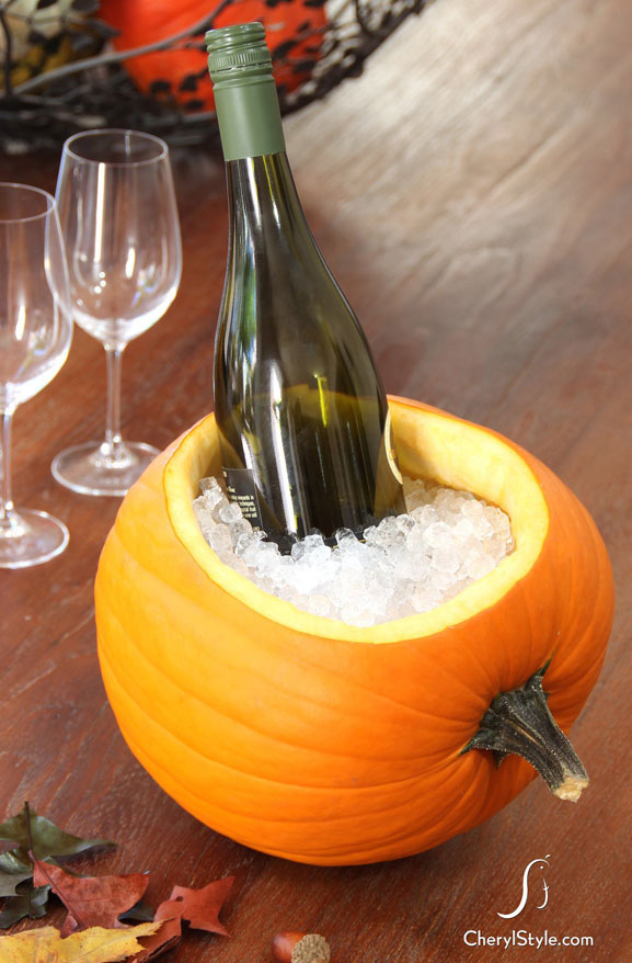 Pumpkin Ice Bucket Carving