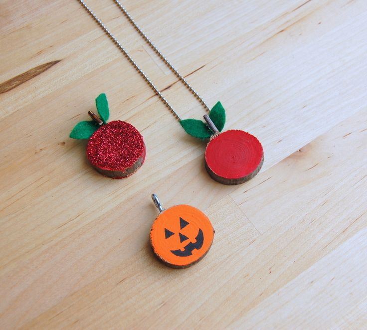 Pumpkin pendant necklace