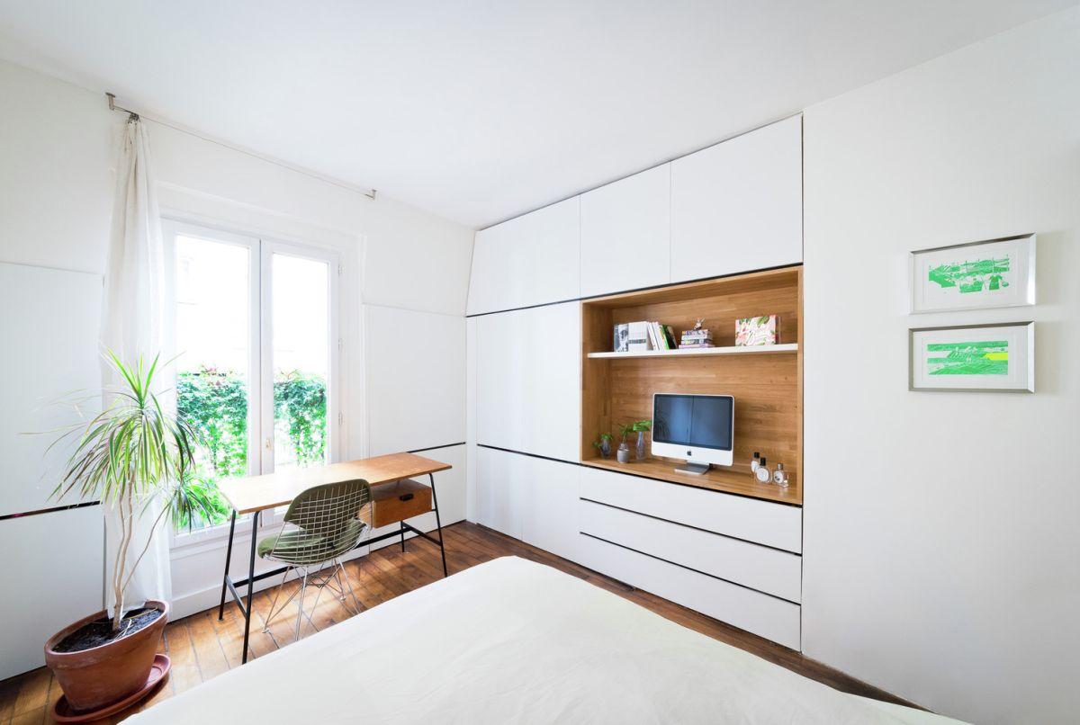 Redesigned Paris apartment bedroom decor