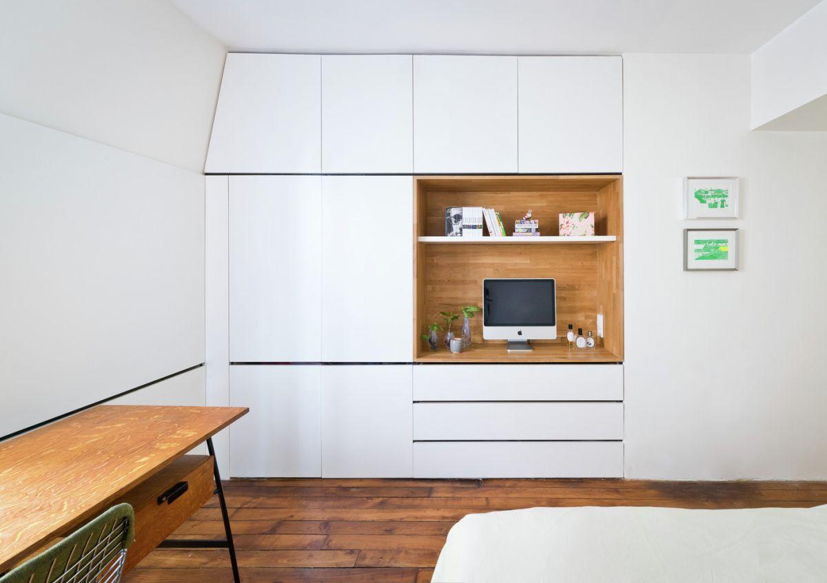 Redesigned Paris apartment bedroom furniture