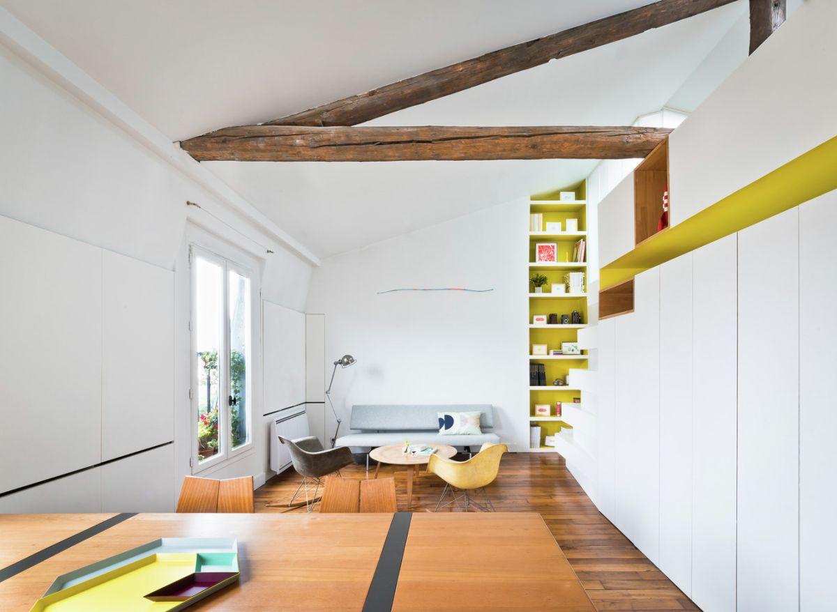 Redesigned Paris apartment social area