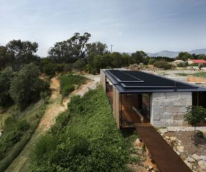 Innovative Family Home Built Of Reclaimed Concrete Blocks