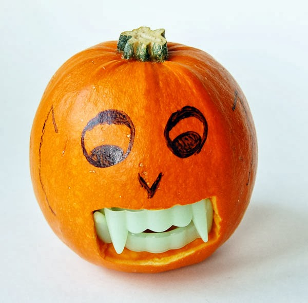 Skill and creativity for Halloween pumpkins