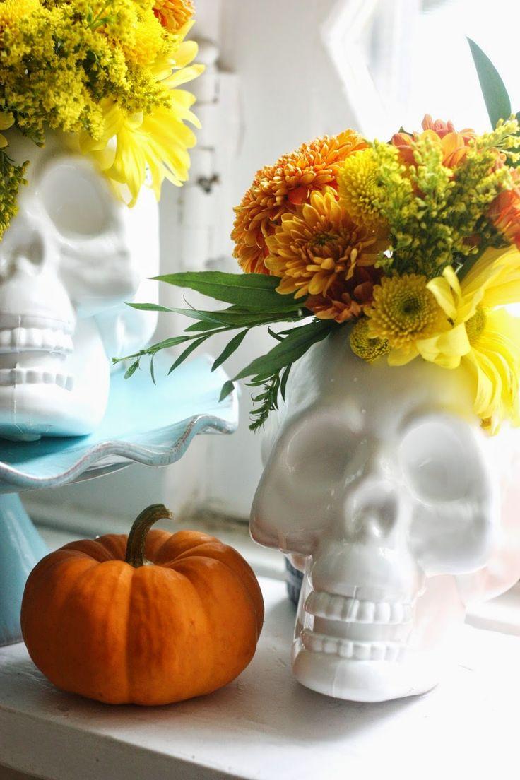 Skull vases
