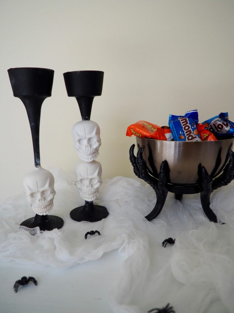 Skulls on a candlestick