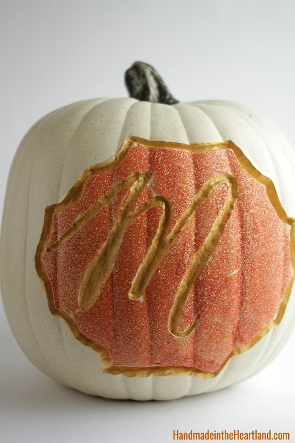 Spark monogram halloween pumpkin