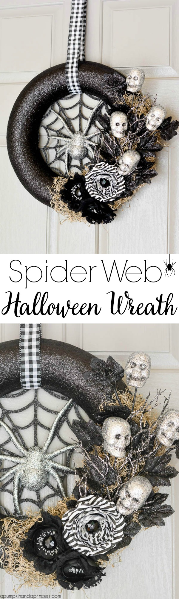 Spider and skull wreath