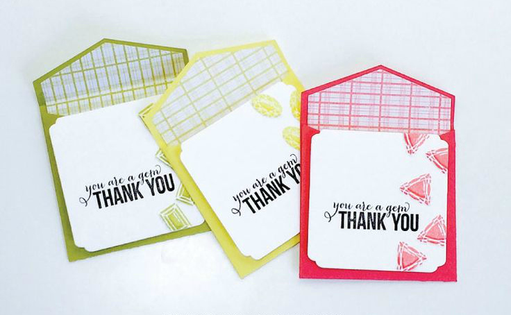Stamped Thank You Cards