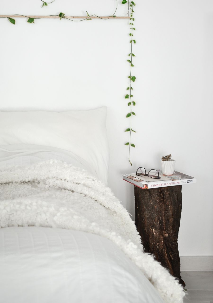 Fall decor how to style a tree trunk at home style the tree trunk into a night stand reviewsmspy
