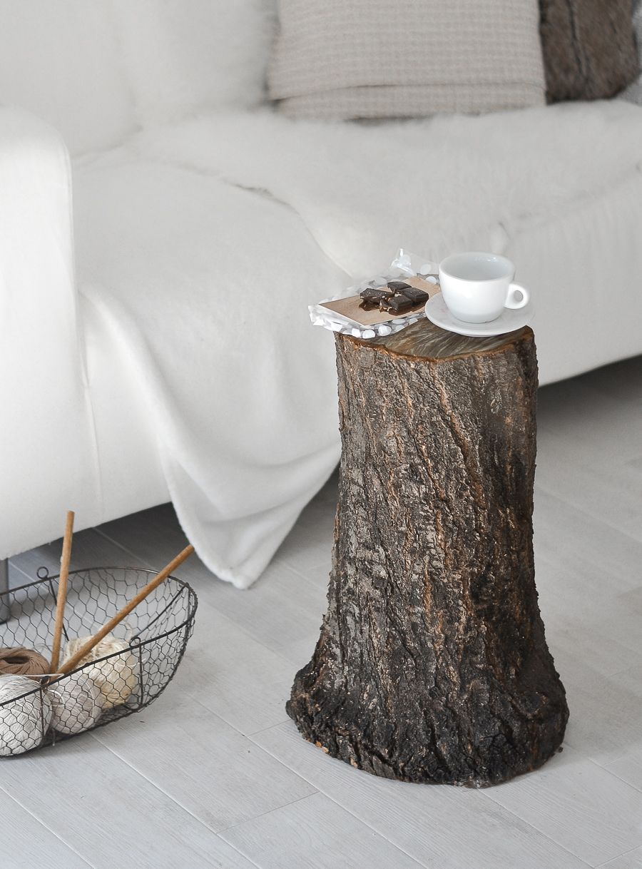 Style the tree trunk like a coffee table