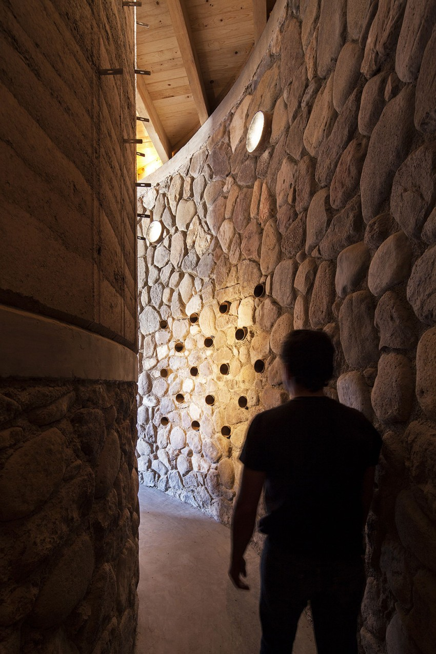 The Cave by Greenfield wine cellar wall