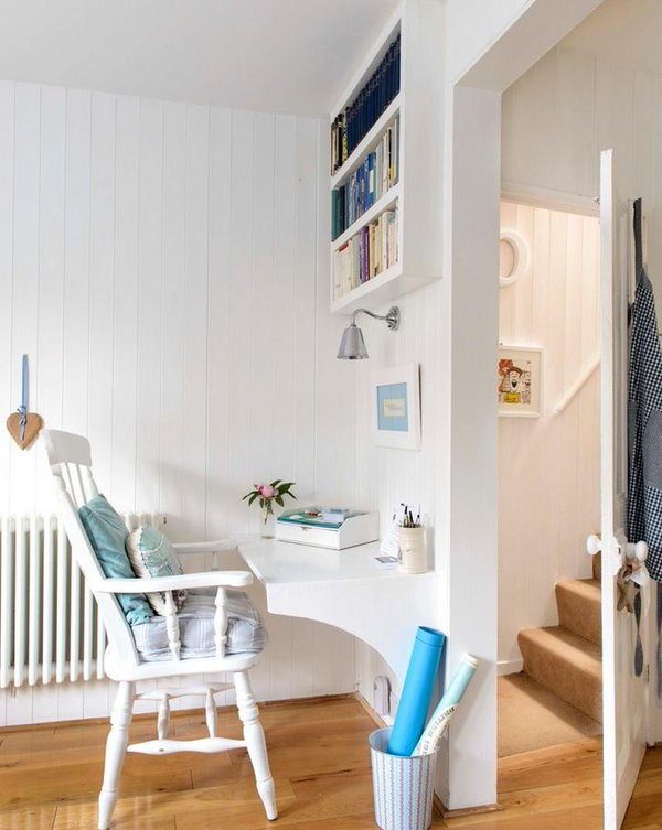 Tiny space for reading and storage