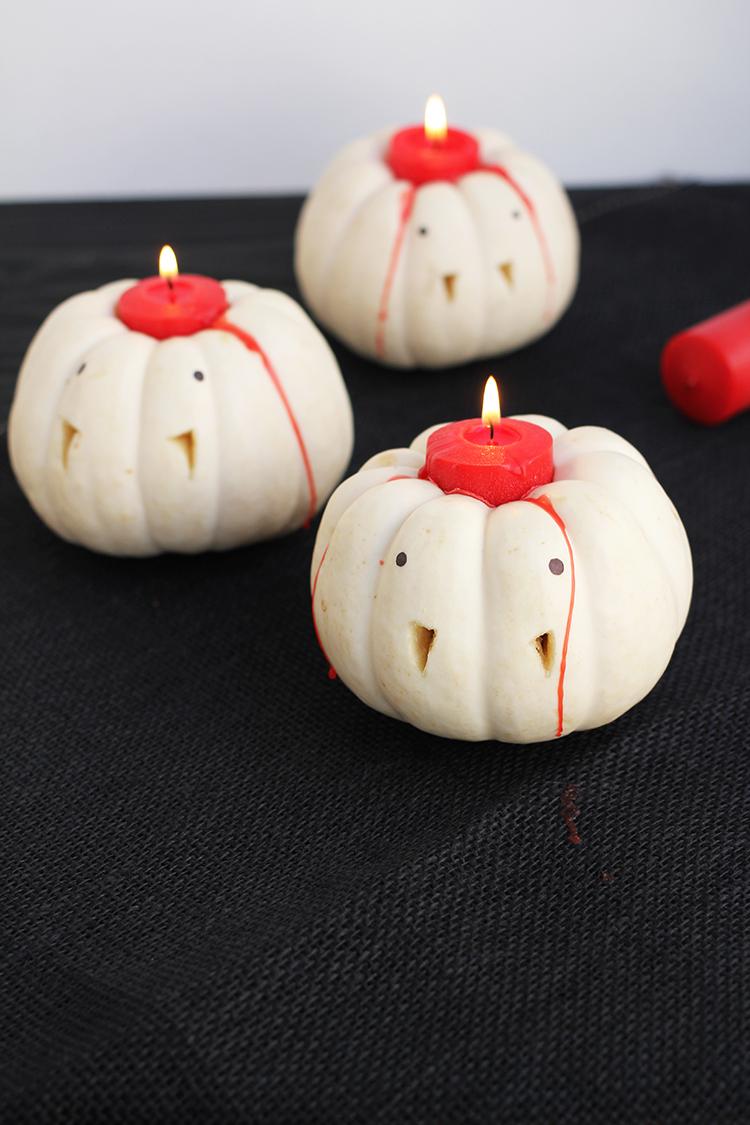 Design Easy Vampire Pumpkin Candle Holders