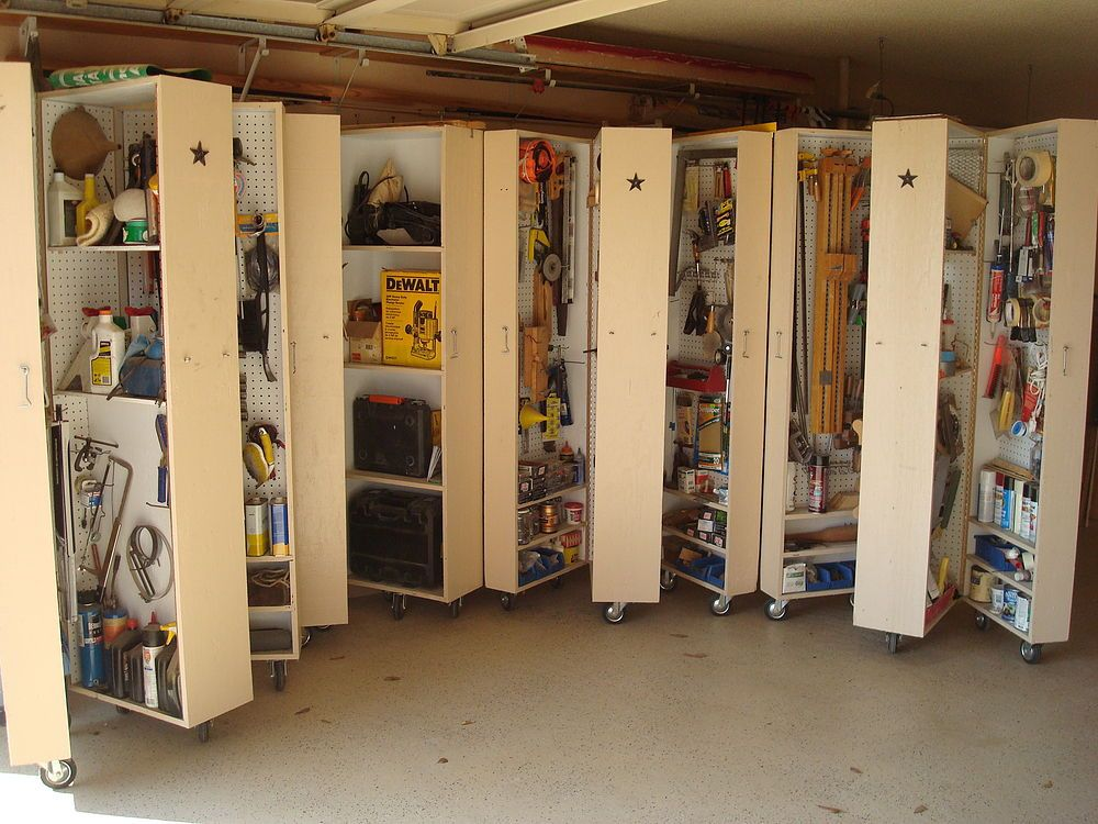 Vertical Storage On Wheels For Garage