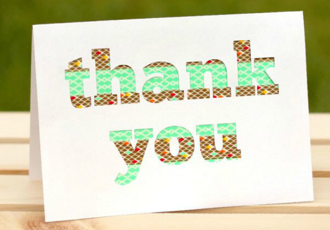 Washi tape thank you