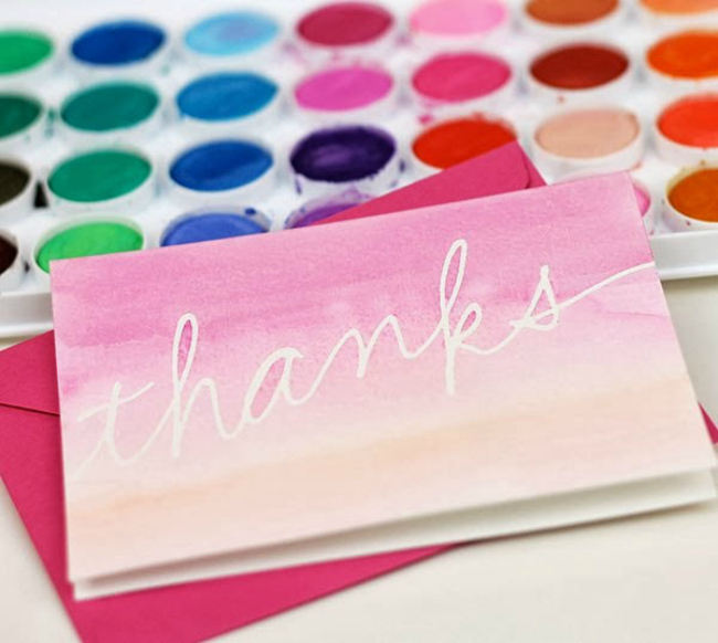 13 diy thank you cards to get ahead of the gifting game watercolor thank you cards solutioingenieria Images