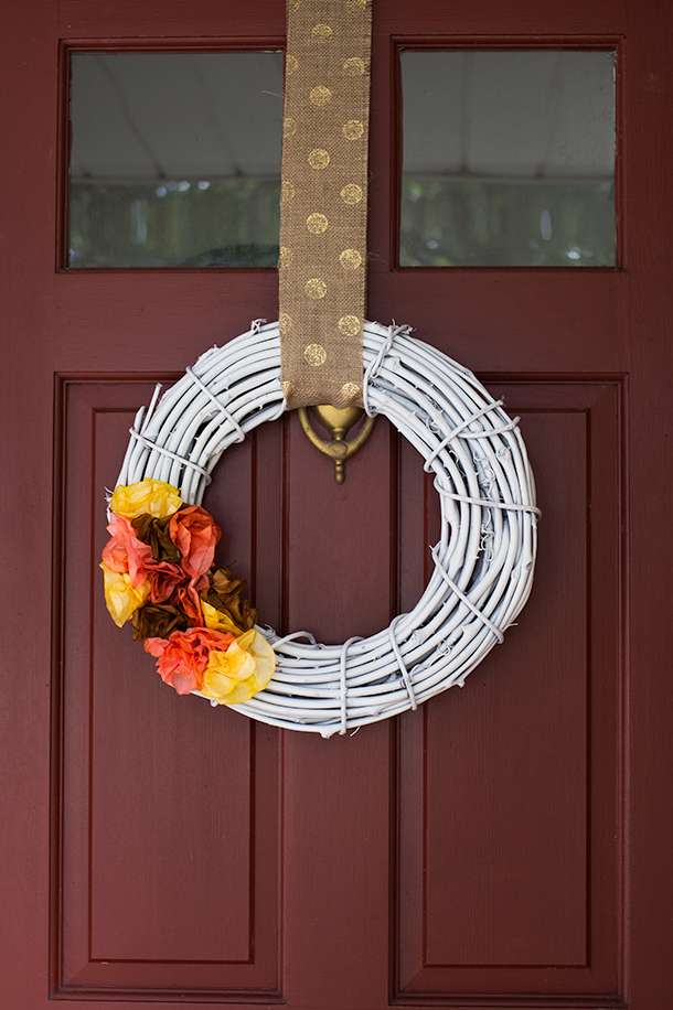 White painted Grapevine wreath