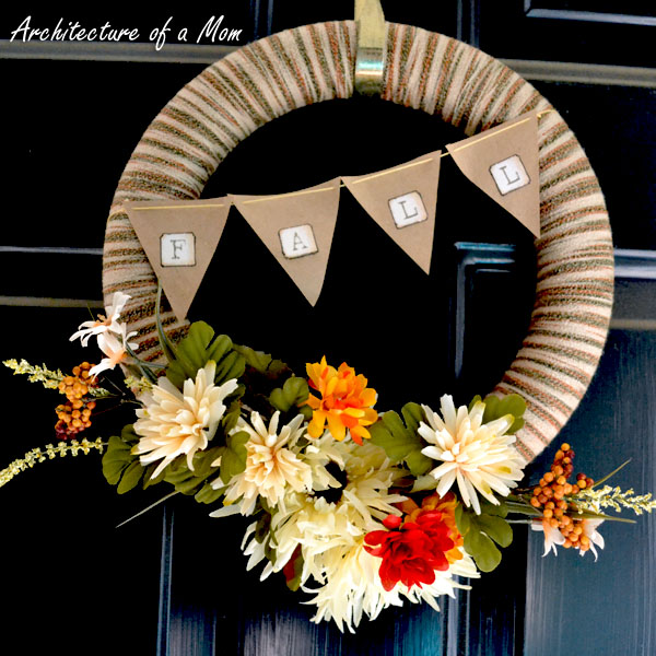 Yarn wreath diy for Fall