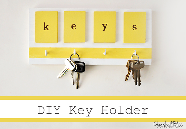 Yellow key holder