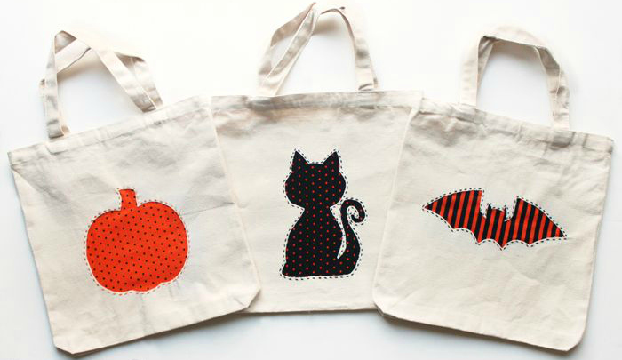 applique halloween bags