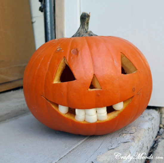 Use Marshmallows to Give Your Pumpkin Teeth