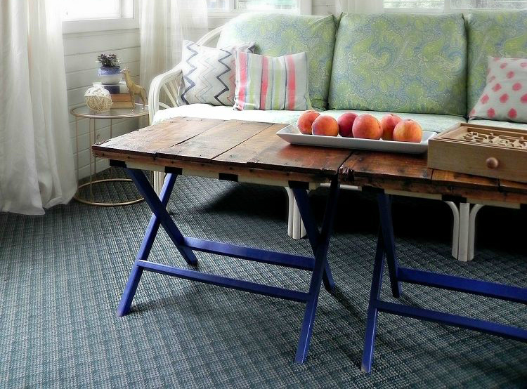 diy luggage rack coffee table