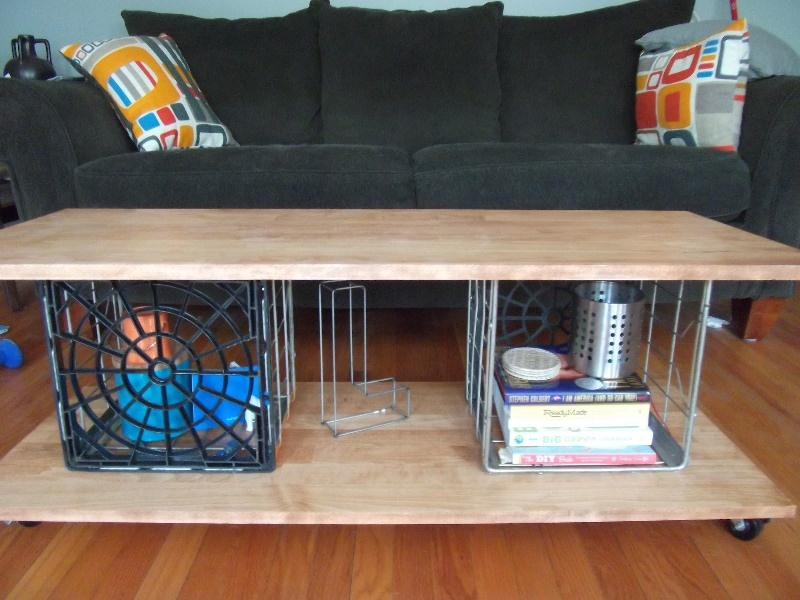 diy milk crate coffee table