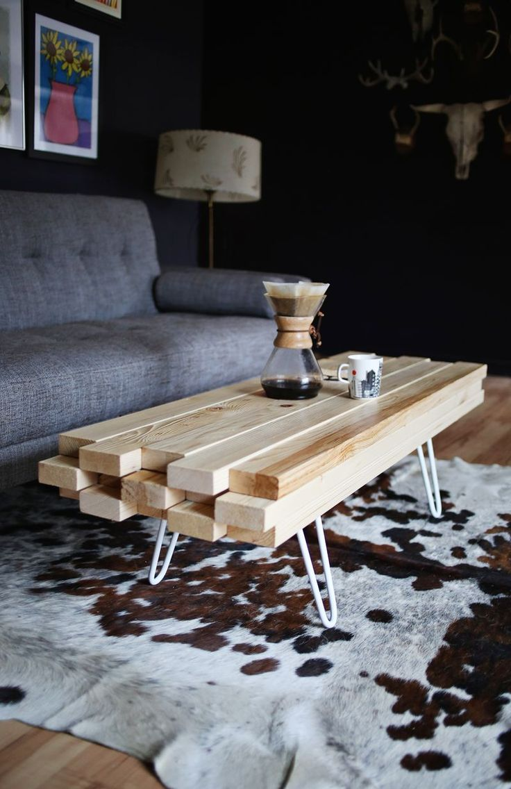 diy wood coffee table