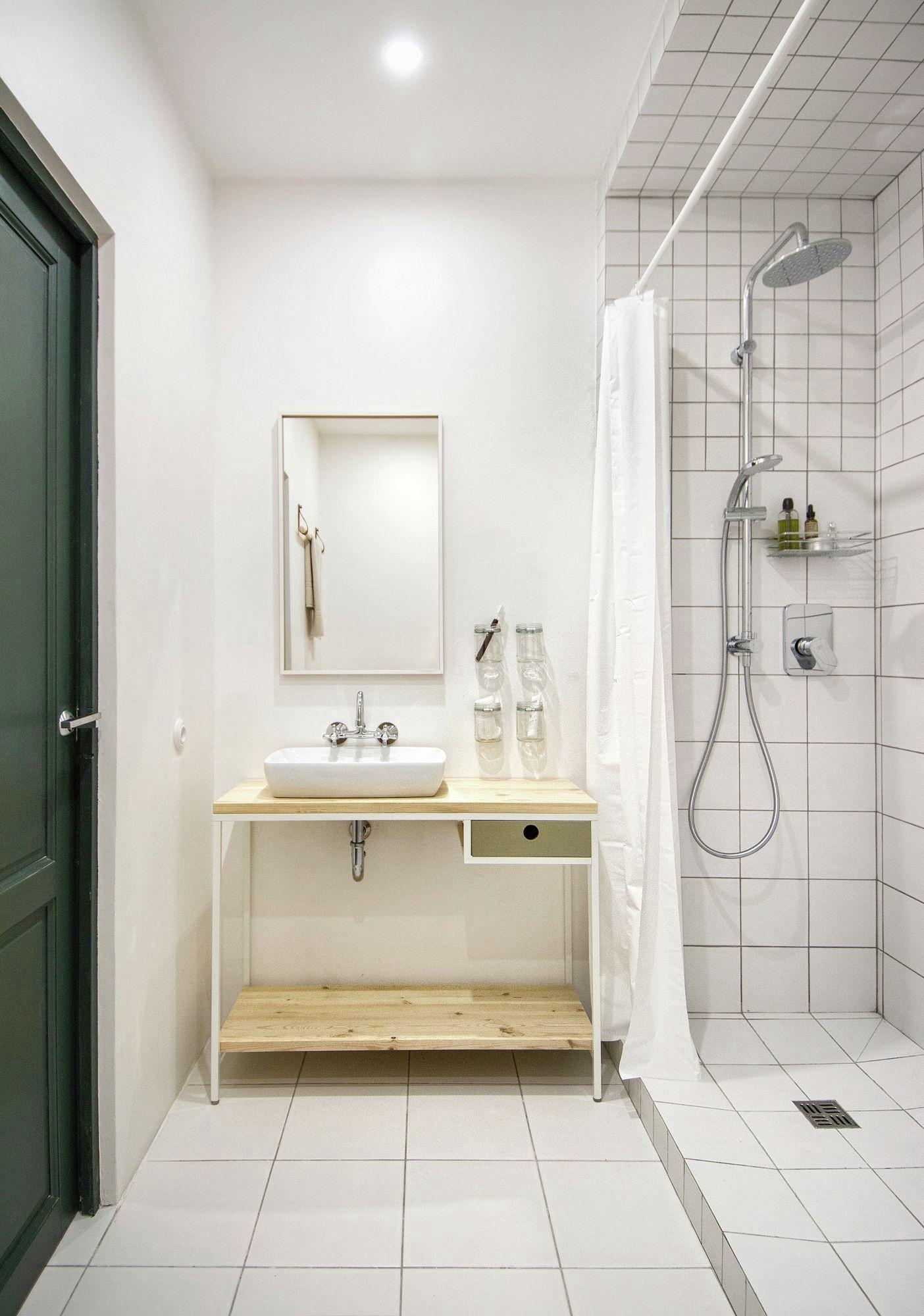 eclectic apartment in St. Petersburg bathroom sink vanity