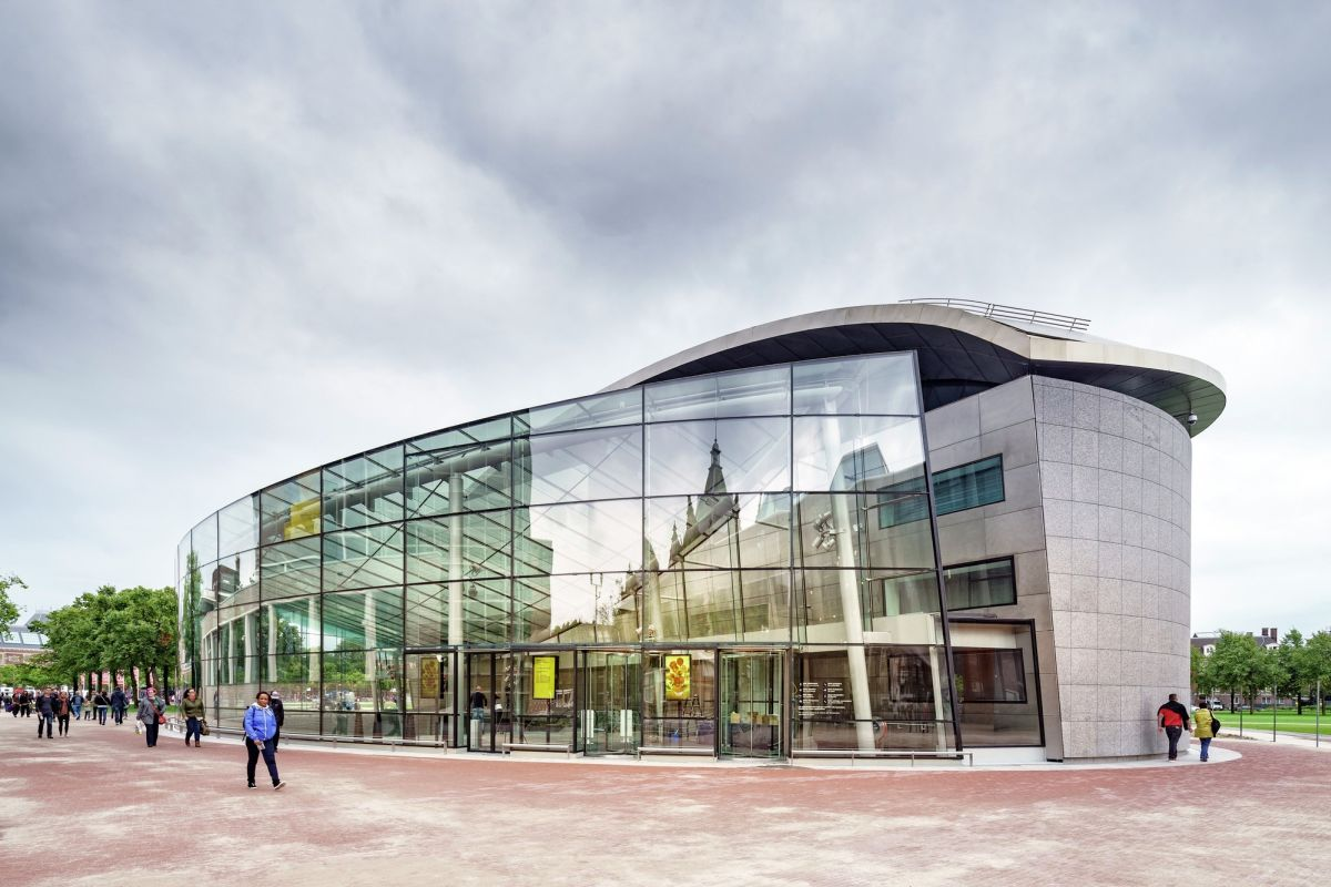 entrance of the Van Gogh Museum