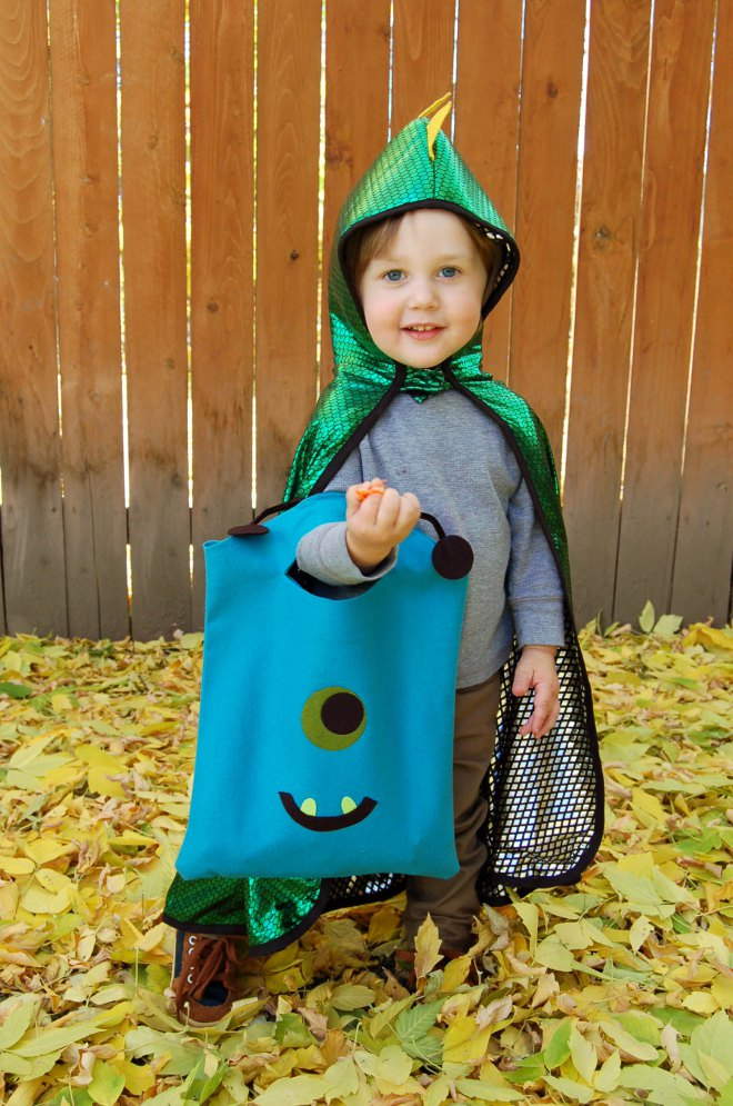monster halloween bag