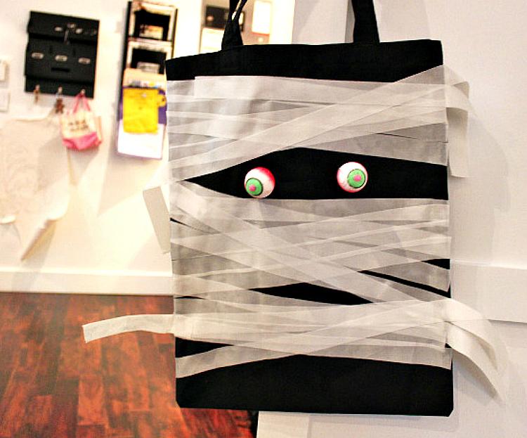 mummy halloween bag