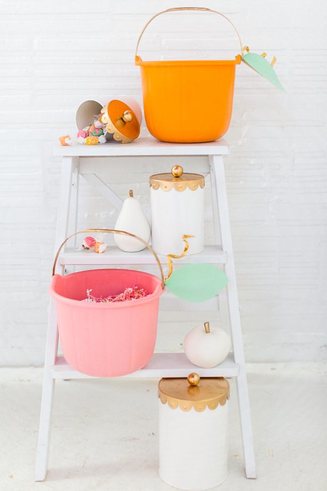 pastel halloween buckets