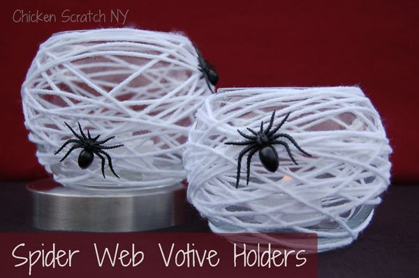 spider web candle votives
