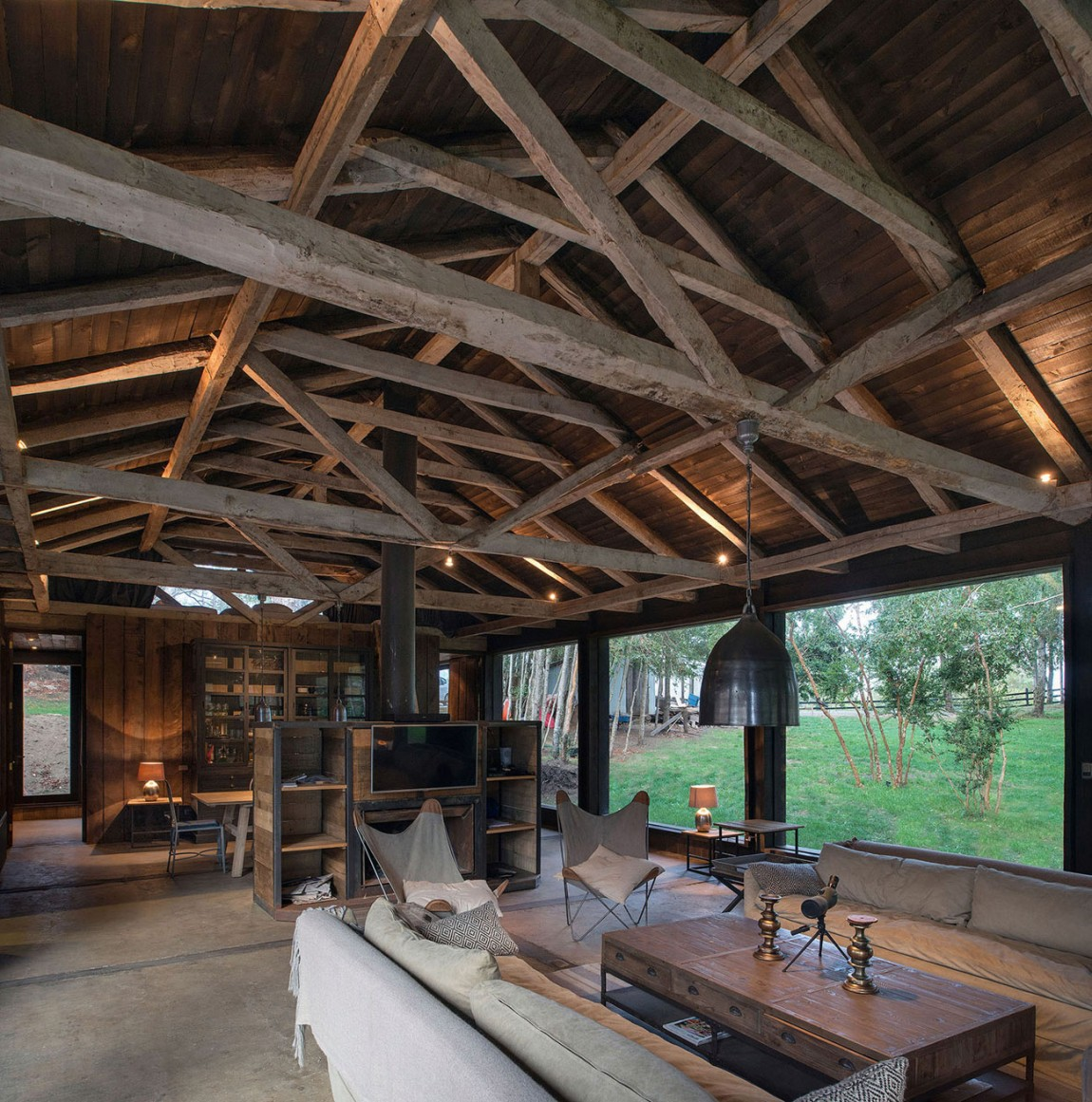 summerhouse in Chile with wood-burning stove