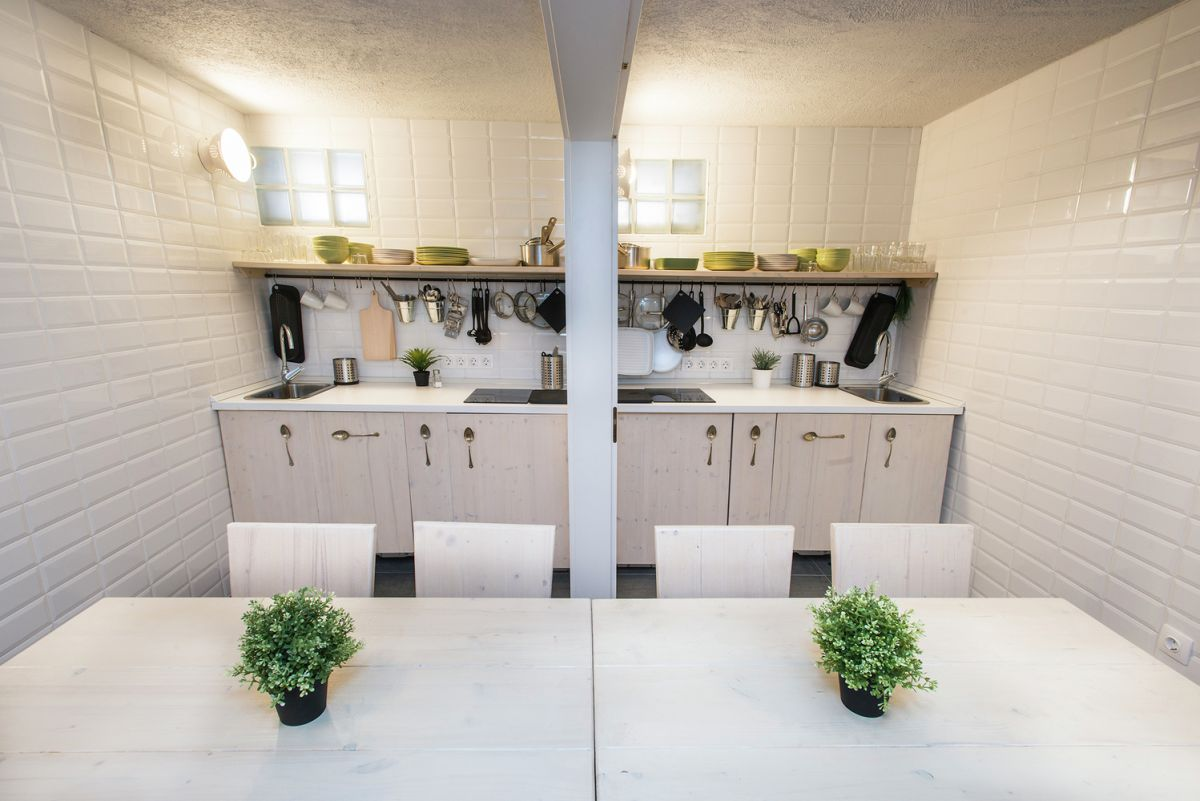 symmetrical design in the kitchen