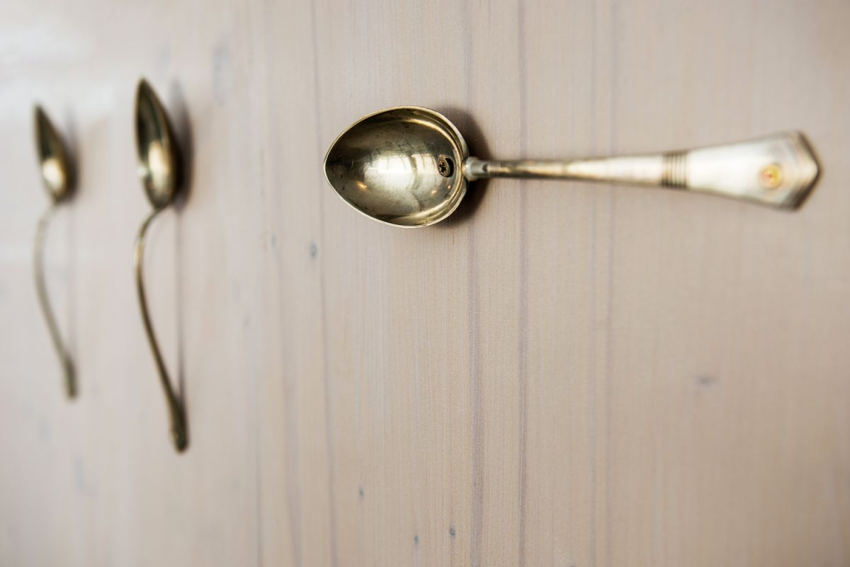 vintage spoons repurposed as door pulls
