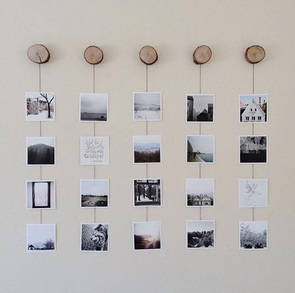 A well dressed wall with pictures