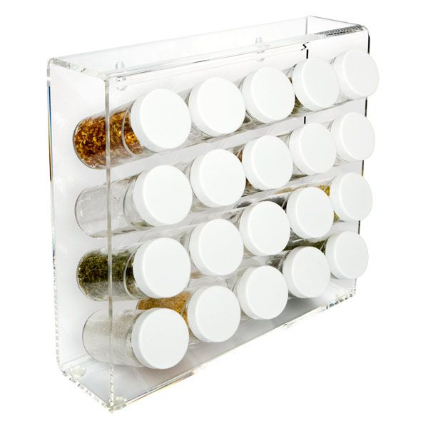 Acrylic 20-Bottle Spice Rack