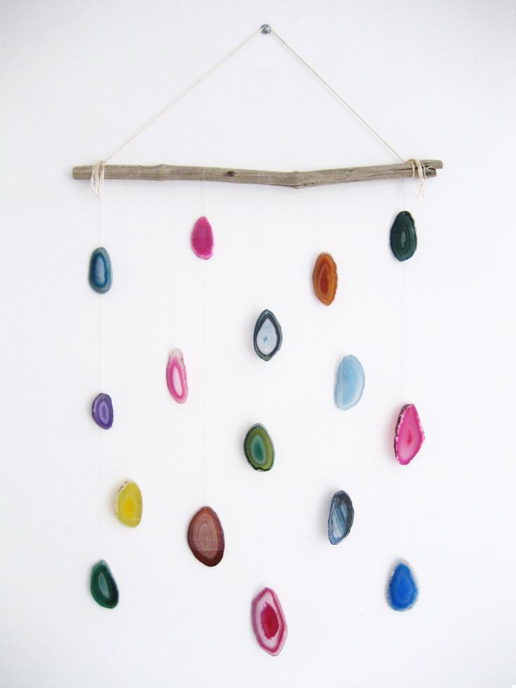 Agate hanging gallery wall