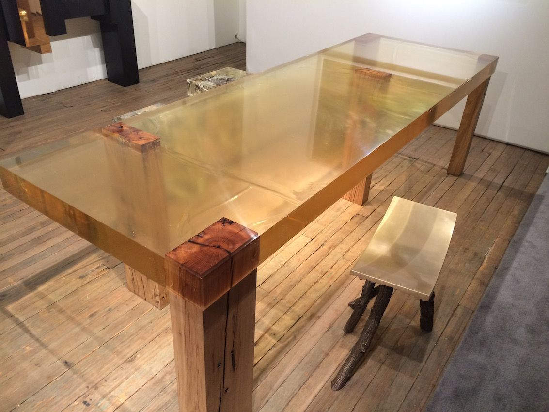 Here the table is paired with Tree Study #03 - Impossible Tree, 2015, by Wolfs + Jung.