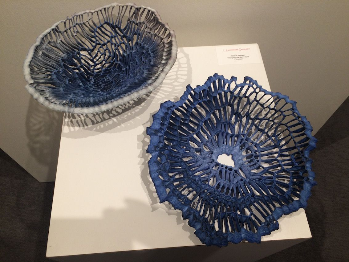 Artist Sidsel Hanum created these bowls, whose openwork is visually engaging.