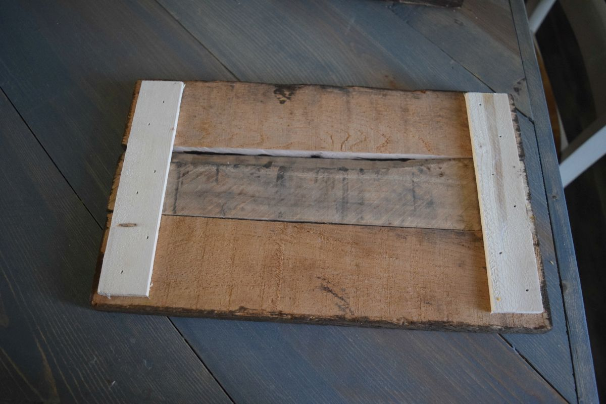 Back of pallet frame