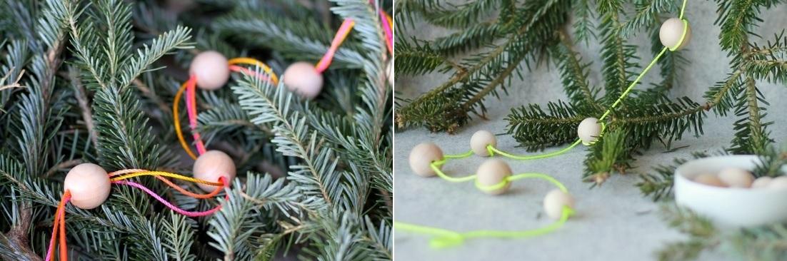 Beaded Gerland For Christmas Tree