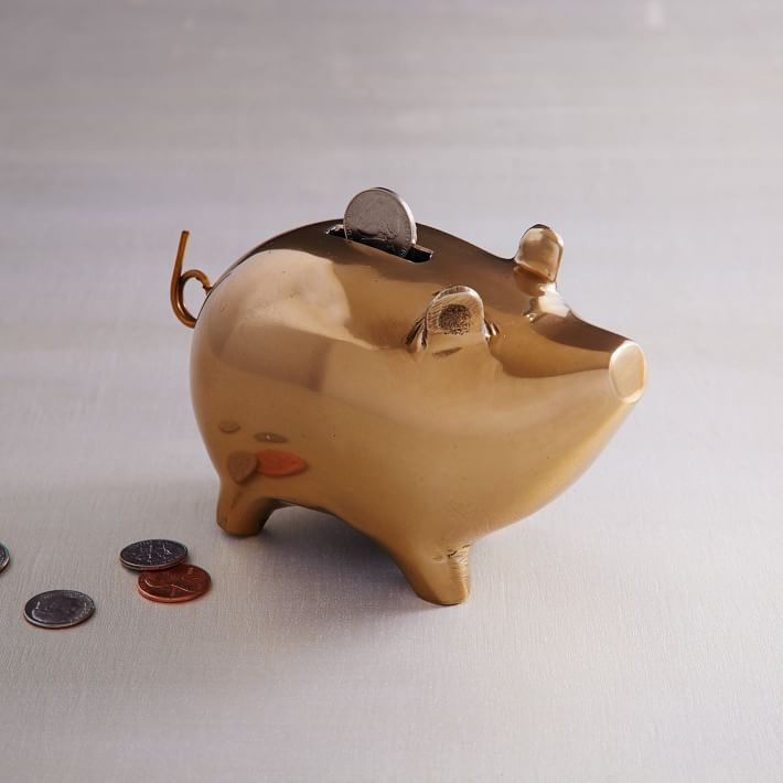 Brass piggy bank