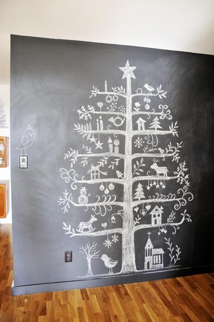 Chalkboard Doodle Tree