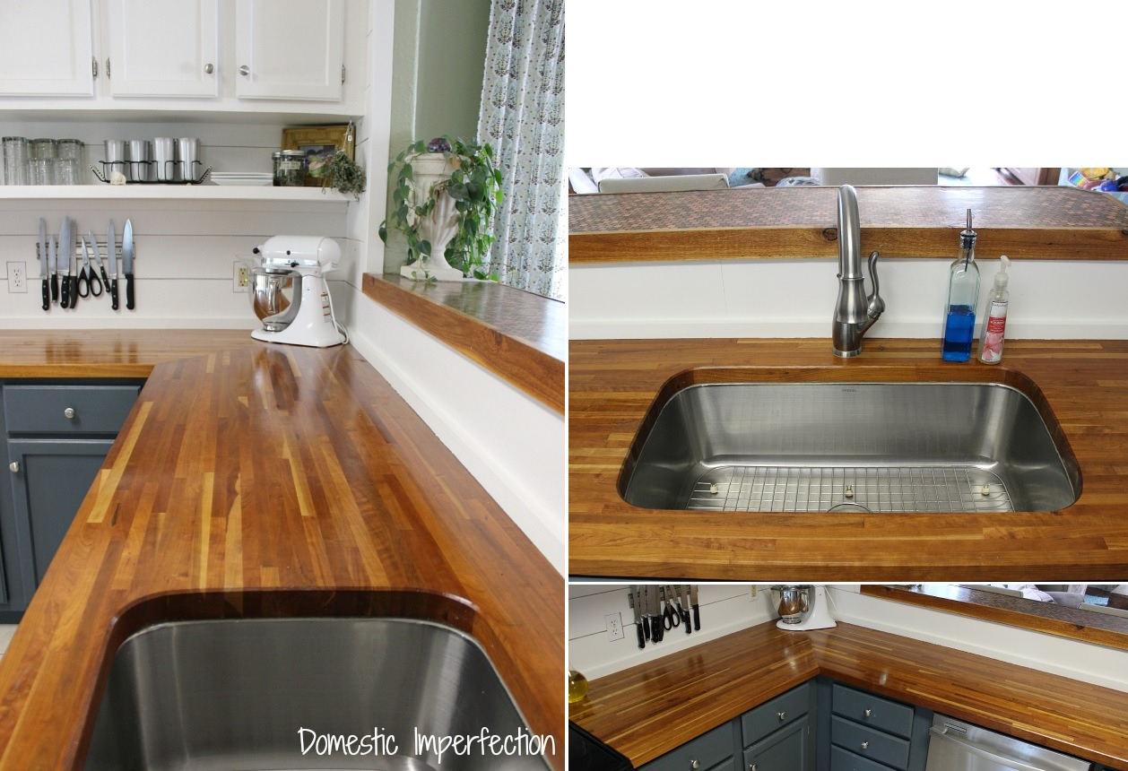 Chic Butcher Block Countertops