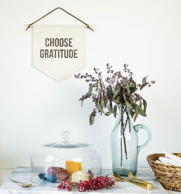 Choose Gratitude Banner for Thanksgiving